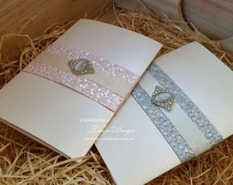 Wedding Invitation. Luxury Pocketfold Invitation. 25 Pink Wedding Invites. Rose Quartz Pocket Fold Wedding Invitation. invitation suite