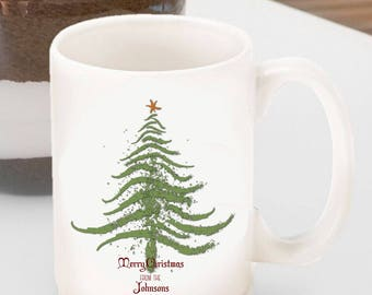 Personalized Christmas Coffee Mug - Tree - Reindeer - Word Art - Christmas Coffee Mug - Christmas Cocoa Mug - Hot Chocolate Mug - GC1333