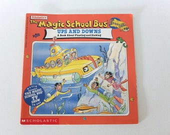 Vintage Children's Book Magic School Bus Ups and Downs - 1997 - Free Shipping