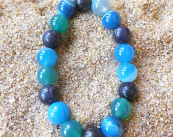 Hand Crafted Gemstone Bracelet!