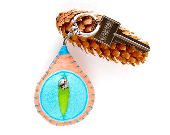 Vagina key chain, vulva keyfob, lesbian keyring, gay housewarming gift, feminist totem, midwifery gift, as seen on HuffPo.com {Maude Key}