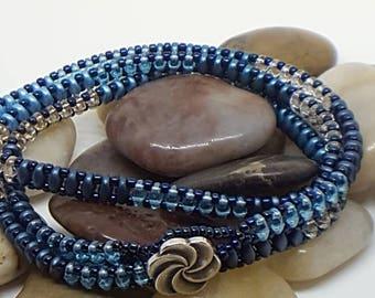 Deep Blue Sea Wrap Bracelet