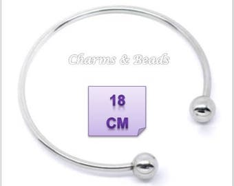 Pandora chamilia beads compatible 18 cm metal Bangle