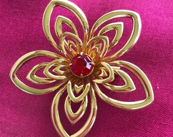 c. 1920s Coro flower brooch