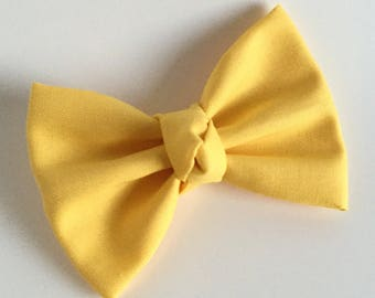Fabric Bow - Yellow