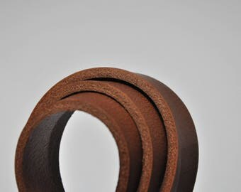 Premium real leather strap - 142 cm Long BROWN Veg-Tan (4.0 mm)