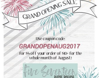 Grand Opening Sale! See shop announcement for details!