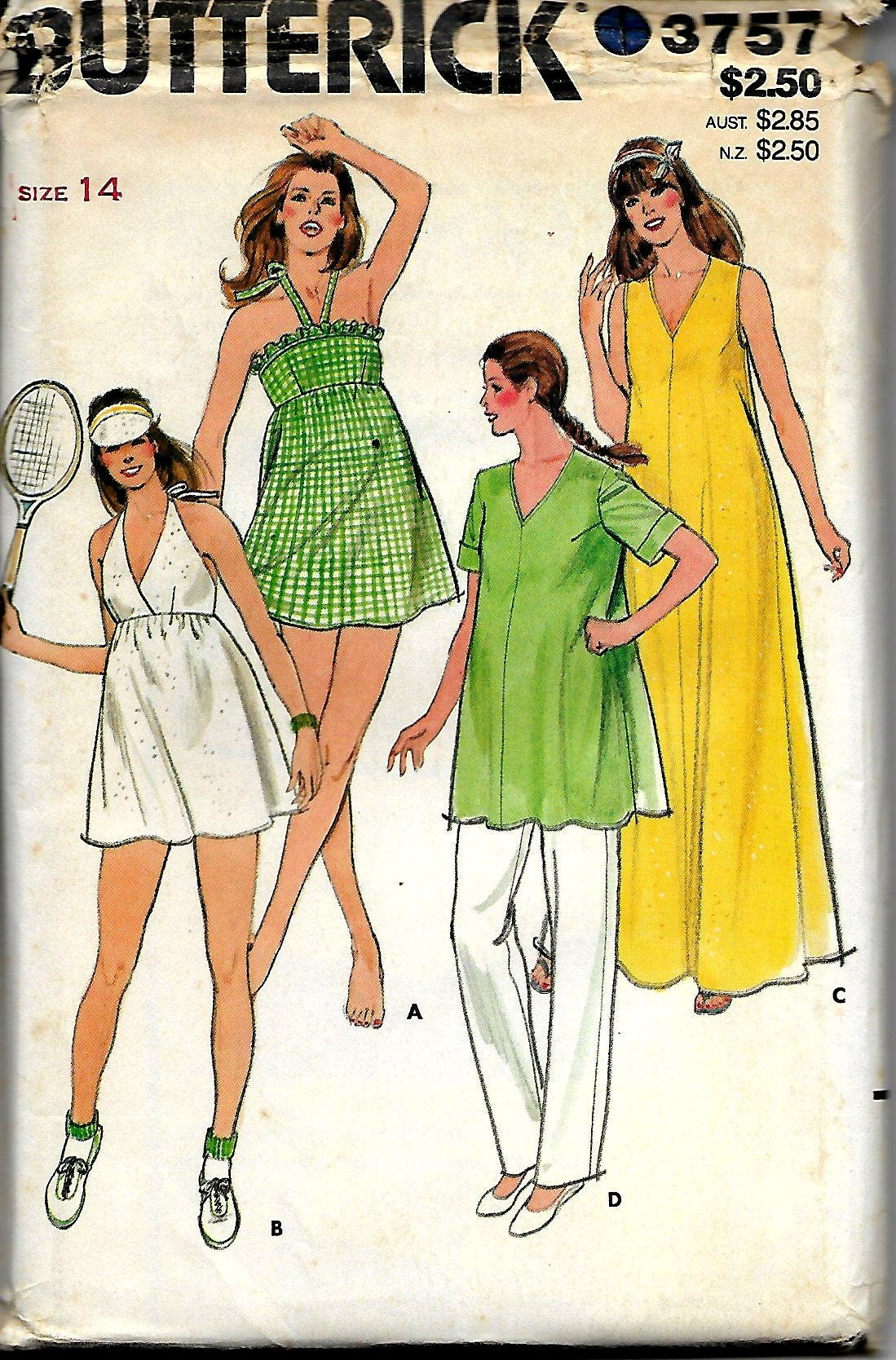 c855e908f069e Butterick 3757 Misses Maternity Swimsuits, Briefs, Cover-ups, Pants Size 14  Uncut from TudorHouseTreasures on Etsy Studio