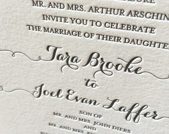 Design Your Own Wedding Invitations, Letterpress