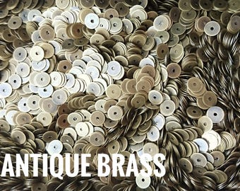 CLEARANCE** 5mm brass sequin, thin metal disc, 500 pcs