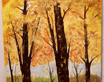 """Oil Painting, Original 16x20, landscape Painting, Hand painted """"Sutumn Splendor"""", Landscape Painting,  Hand Painted in the USA, #60"""