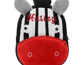 Giraffe backpack toddler easter gift personalized backpack for zebra backpack baby girl easter gift personalized toddler backpack girl preschool backpack girl daycare backpack kids negle Choice Image