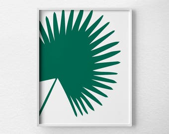 Cabbage Palm Leaf Print, Plant Prints, Tropical Print, Nature Print, Palm Print, Tropical Leaf, Tropical Art, Botanical Print