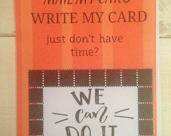 Send my Card, Send it direct, Don't have time, I will send, Direct Services, Mail my card, Sign my card and mail, Virtual Assistant