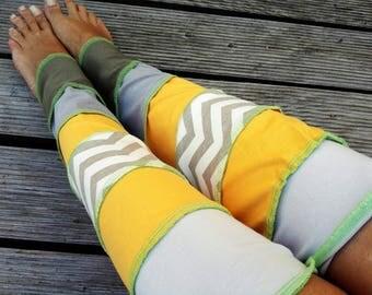 Leg warmers leg warmers organic Jersey patchwork pastel