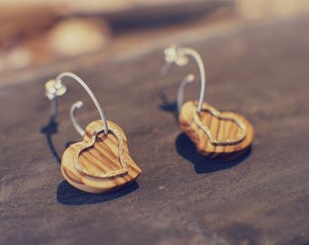 Mini hearts. Earrings for your loved one.