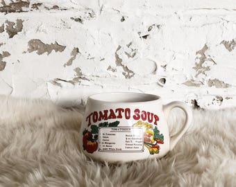 vintage tomato soup mug