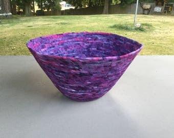 Purple coiled Fabic bowl