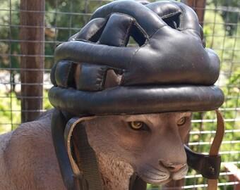 Vintage Leather Bike Helmet by Kucharik