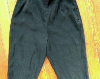 Black velvet capri pants