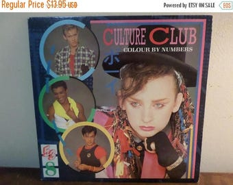 Save 30% Today Vintage 1983 Vinyl LP Record Culture Club Colour By Numbers Near Mint Conditon 15255