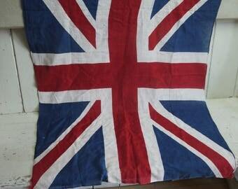 Vintage Union Jack Flag - Decorative Union Jack - British Flag - Vintage Flag -British Made Circa 1930s