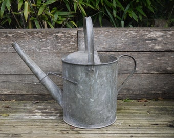 Vintage Watering Can - Galvanised watering can - Watering Can - Metal Watering Can - Vintage Galvanised Watering Can - Garden Decor