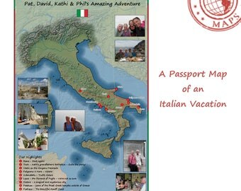 Passport Maps - YOUR Travel Story Mapped - Italy