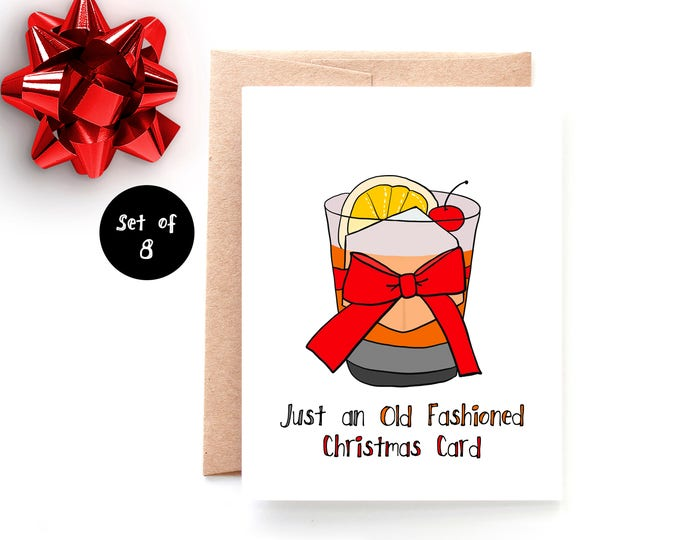 Old Fashioned Christmas Card Set of 8