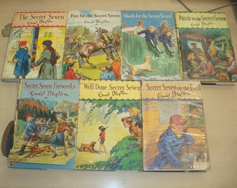 Set of 7 Secret Seven Books with Dust Jackets: 3 1st editions