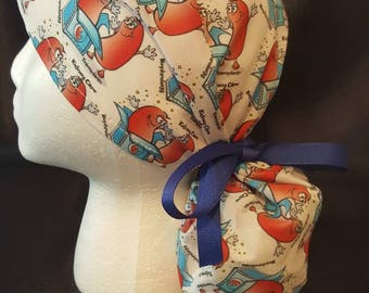 Kidney Care Ponytail Surgical Scrub Hat