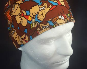 Donkey Kong Tie Back Surgical Scrub Hat