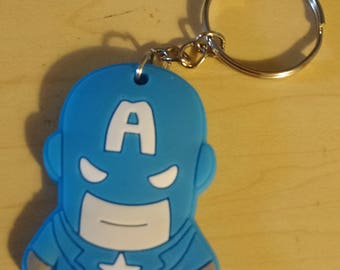 PVC Keychain - Captain America