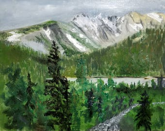 Brainard Lake Colorado 11x14 panel/Oil Painting