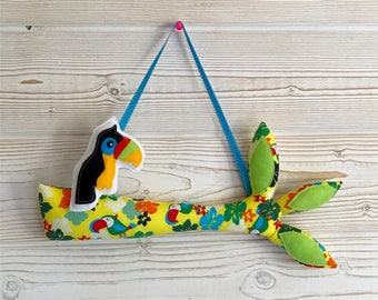 Tree branch and toucan , Decoration for children