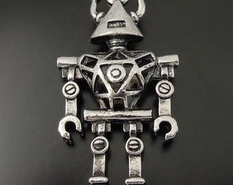 1 silver Robot X 45mm Tibetan