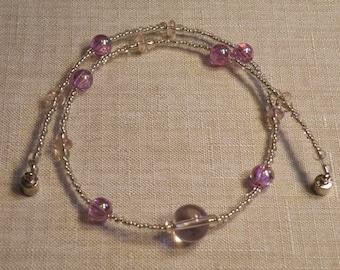 Princess Pink Glass Bead Necklace