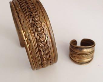 Stylish vintage bronze jewelry
