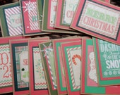 24 Christmas Greeting Cards / Blank Inside Greeting Cards / Greeting Card Set / Greeting Card Pack / Christmas Cards