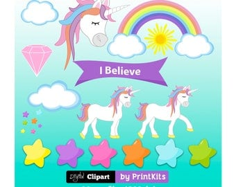 Cute Unicorn Clipart Rainbow Unicorn Clip Art Unicorns Party Unicorn Graphics Unicorn Head Clipart Unicorn Png Unicorn Image Printkits
