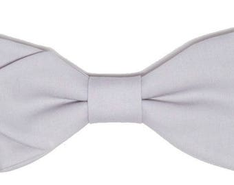 Bow tie grey Pearl sewn by hand with sharp edges