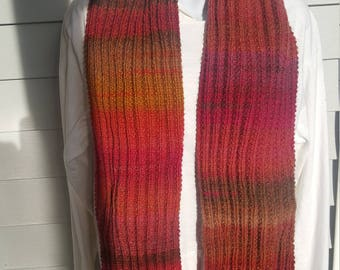 Super soft knit scarf, winter wear, holiday gift, woman scarf, scarves and wraps cactus flower
