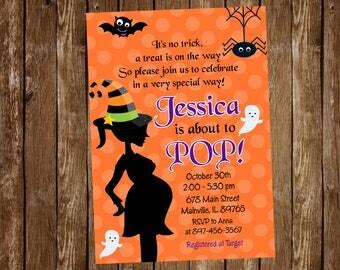 Halloween Baby Shower Invitation - Digital or Printed