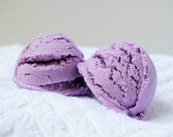 Lavender Bubble Bath -- Calm Solid Bubble Bath -- Handmade Lavender Bubble Bath -- Lavender Scented Bubble Bath Scoop