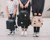 Gold Kids backpack, Gold girl backpack, Stars emboried , Toddler  backpack Gold,  girl backpack,  Children Backpack, Cool backpack