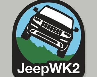 Jeep Decal - Jeep WK2 Decal - Jeep Bumper Sticker - Jeep Grand Cherokee - Laredo Trailhawk Summit Sterling Overland Summit SRT Jeep Decal