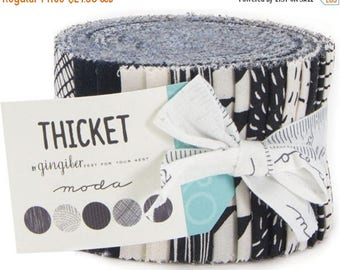 Anniversary Sale Moda Thicket Black and Natural Junior Jelly Roll Strips 2.5 x 44 x 20 ~Fast Shipping,JR432