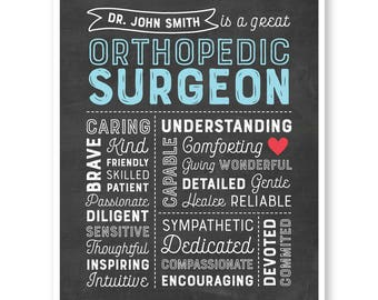 Orthopedic Surgeon Gift, Personalized Surgeon Sign, Custom Doctor Wall Art, Doctor's Office, Medical Doctor Gift ,Surgeon Appreciation Gift