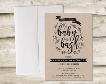 Baby Shower Invitation, Baby Bash Invitation, Baby Shower Invite, Couples Baby Shower Invitation, Invitation for Couples Baby Shower