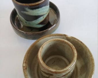 8 piece collection saki cups and saucers